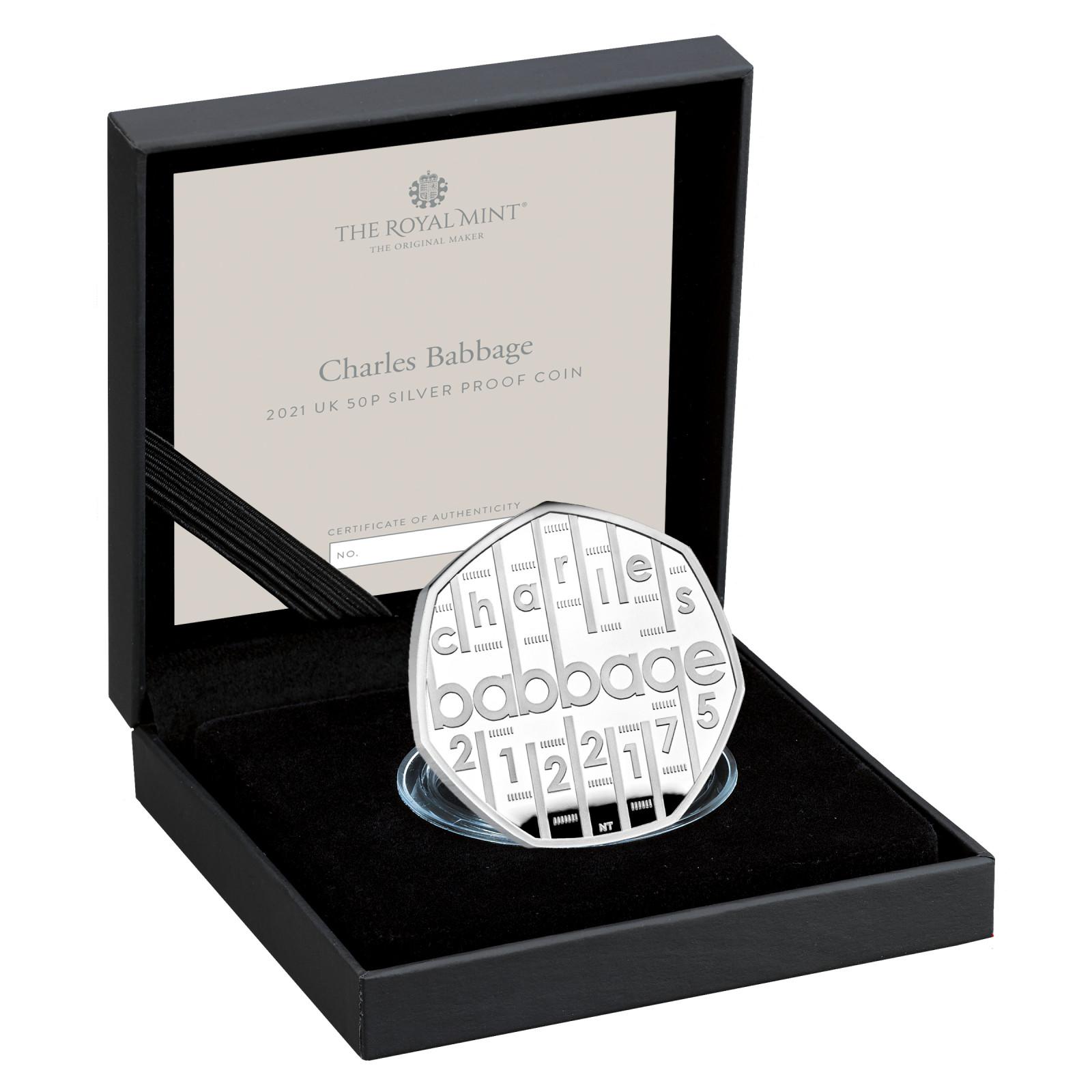 Lieferumfang:Großbritannien : 0,5 Pfund Charles Babbage   2021 PP