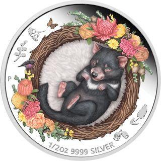Vorderseite:Australien : 50 Ct Dreaming Down Under - Tasmanian Devil  1/2 oz  2021 PP