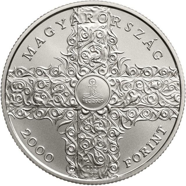 Vorderseite:Ungarn : 2000 Forint 52. int. Eucharistischer Kongress CuNi  2021 Stgl.