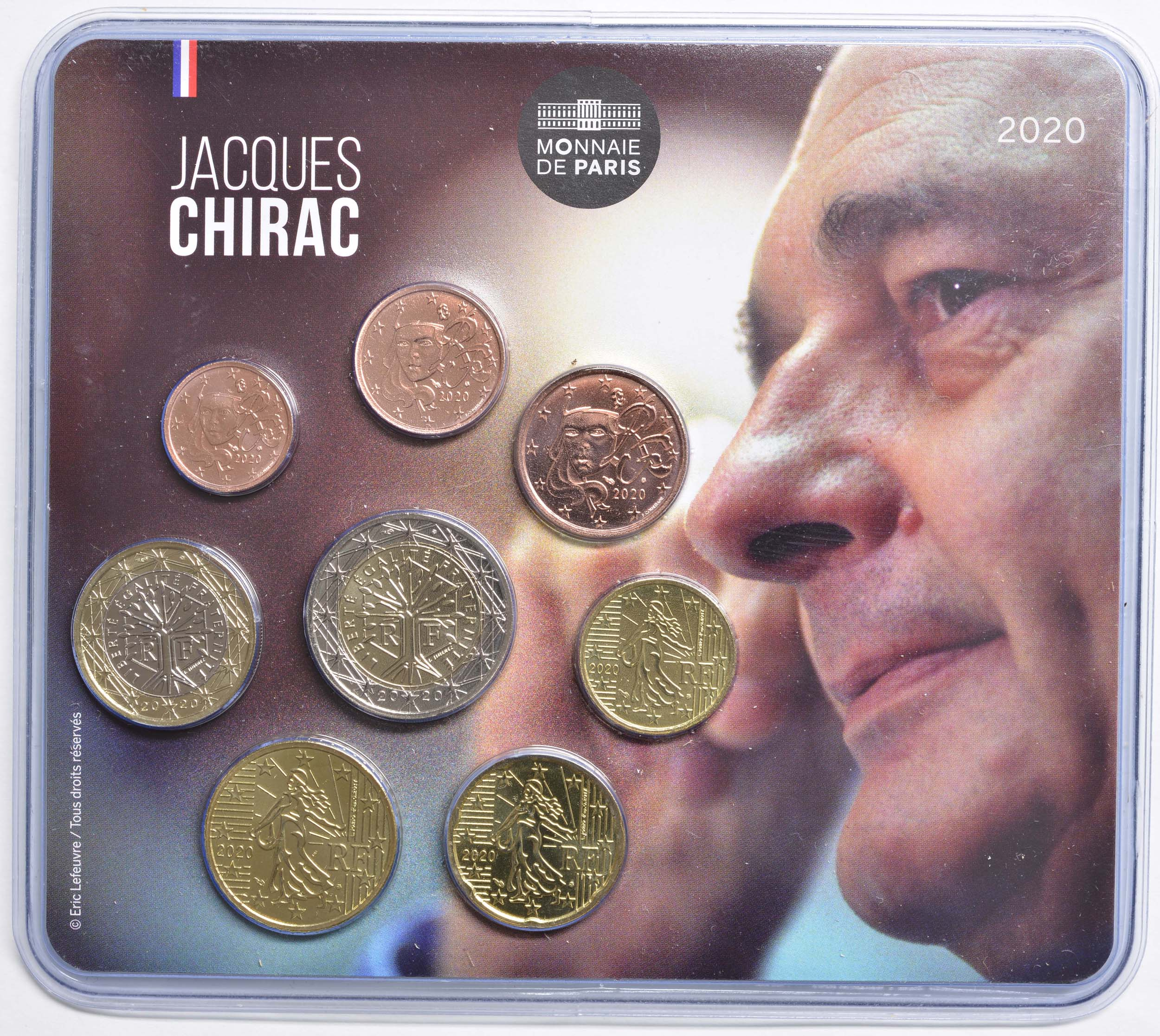 Lieferumfang:Frankreich : 3,88 Euro Mini KMS Jacques Chirac  2020 Stgl.