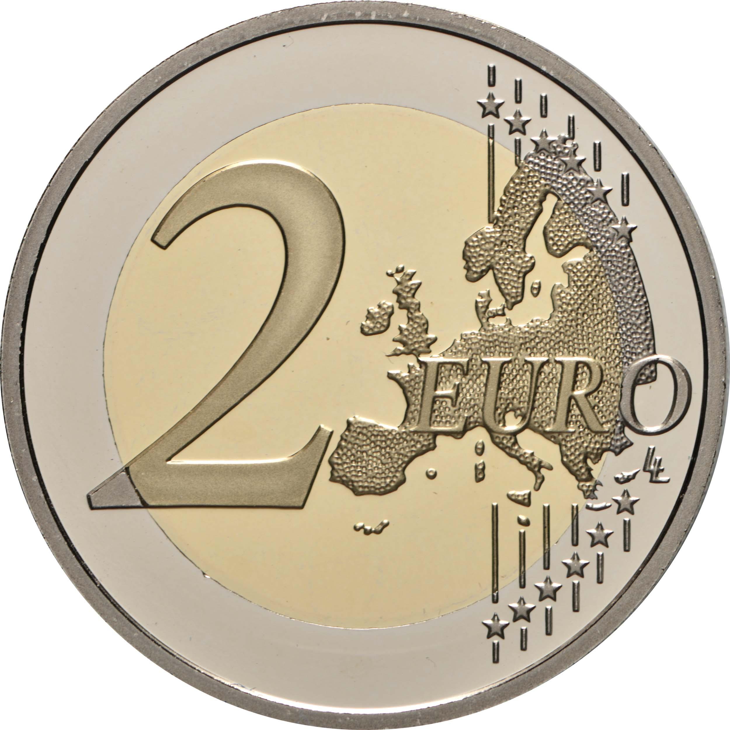 Vorderseite:Monaco : 2 Euro 10. Hochzeitstag von Fürst Albert II und Fürstin Charlène  2021 PP