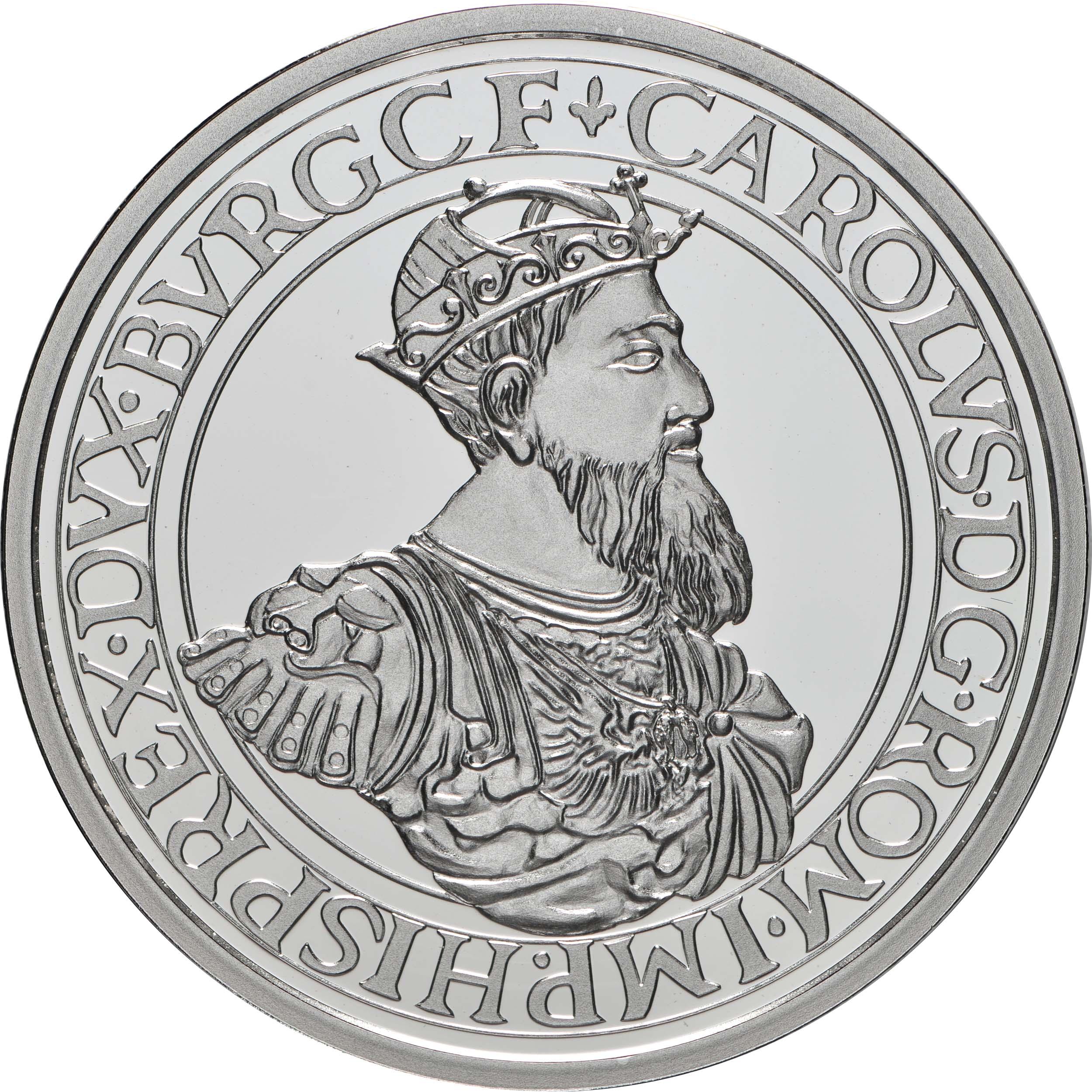Vorderseite:Belgien : 10 Euro Karl V.  2021 PP