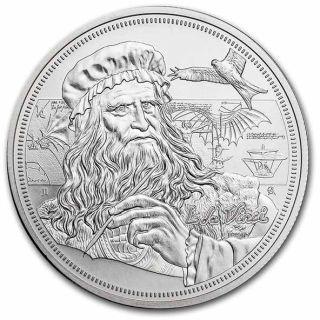 Lieferumfang:Niue : 2 Dollar Leonardo Da Vinci - Ikonen der Inspiration #2  2021 Stgl.
