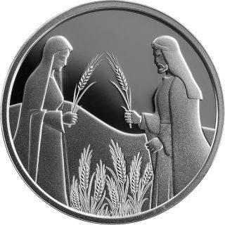 Vorderseite:Israel : 1 Schilling Ruth im Feld des Boaz - Bibl. Kunst #24  2020 PP