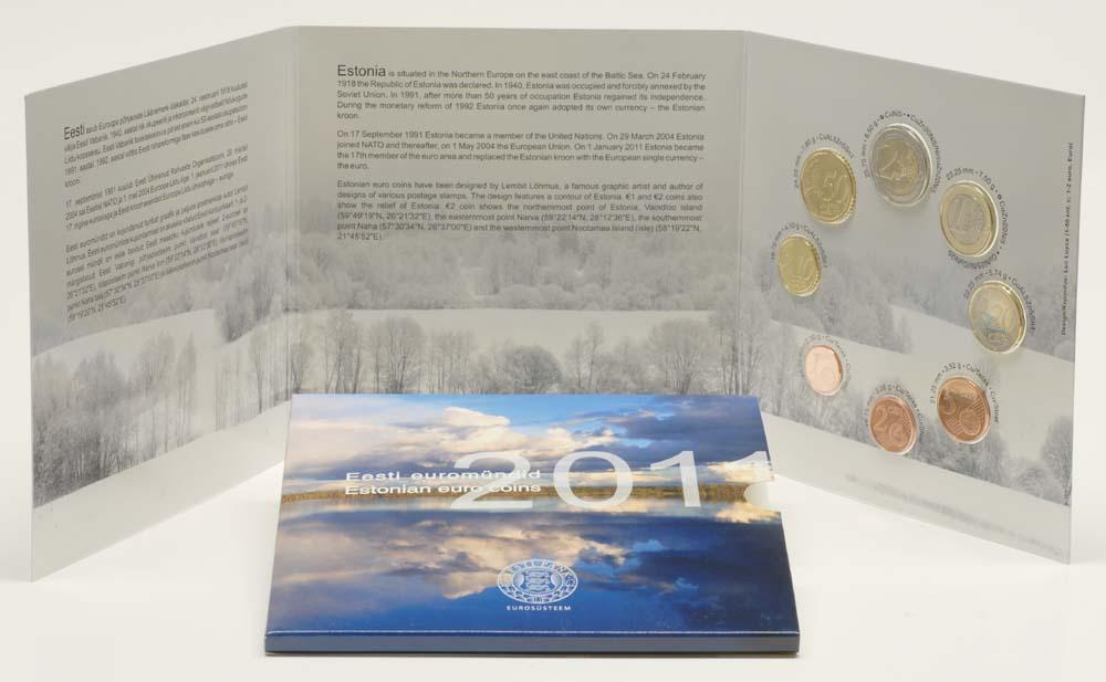 Lieferumfang:Estland : 3,88 Euro original Kursmünzensatz aus Estland  2011 Stgl.