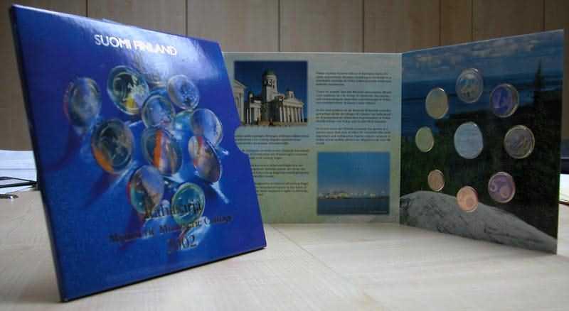 Lieferumfang:Finnland : 3,88 Euro original Kursmünzensatz der finnischen Münze  2002 bfr