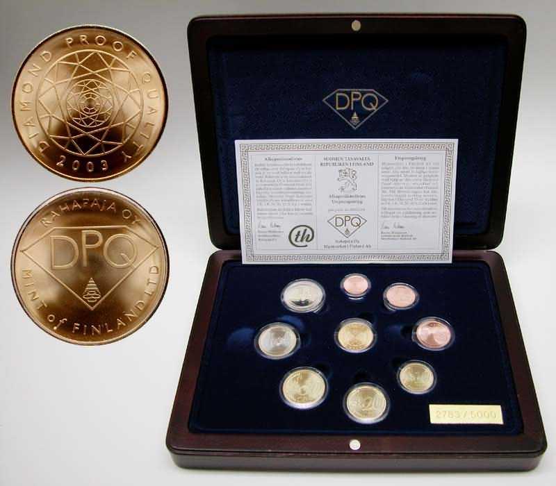 Lieferumfang:Finnland : 3,88 Euro original Kursmünzensatz der finnischen Münze + Goldmedaille (8,6 Gramm 900er Gold) in einer hochwertigen Holz-Kassette mit Magnetverschluß und durchnummeriertem Metallschild - Auflage nur 5000 Stück - inklusive Zertifikat  2003 PP