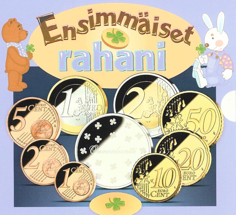 Lieferumfang:Finnland : 3,88 Euro original KMS Baby der finnischen Münze- enthält kompletten Kursmünzensatz 2005 + Medaille  2005 Stgl.