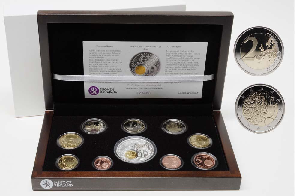 Finnland : 5,88 Euro original Kursmünzensatz der finnischen Münze inkl. 2 Euro Gedenkmünze  2010 PP KMS Finnland 2010 PP
