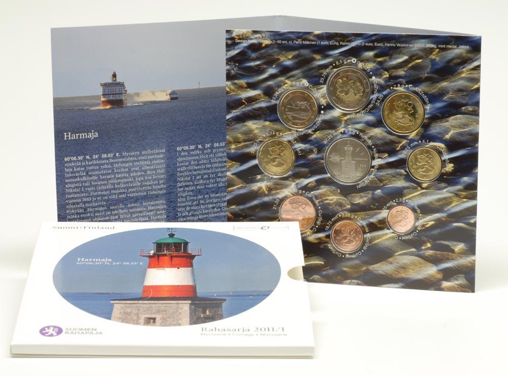 Lieferumfang:Finnland : 3,88 Euro original Kursmünzensatz der finnischen Münze  2011 Stgl. KMS Finnland 2011