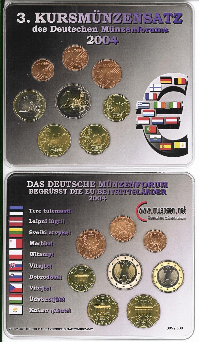 Lieferumfang:Deutschland : 3,88 Euro original KMS des Deutschen Münzenforums verpackt durch das Bayerische Hauptmünzamt - einzeln numeriert  2004 Stgl. KMS Münzenforum 2004