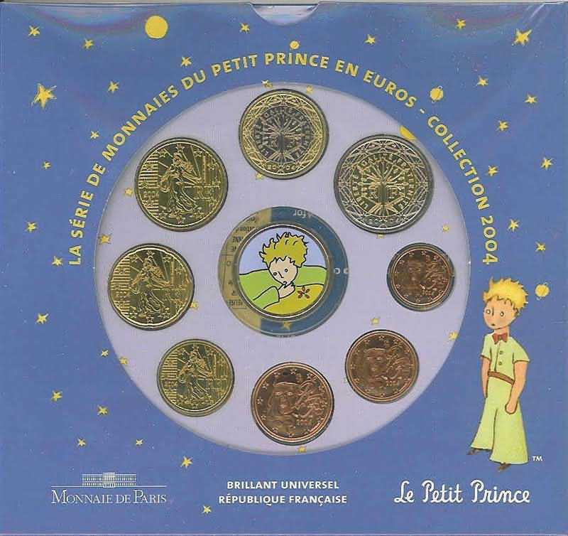 Lieferumfang:Frankreich : 3,88 Euro Themensatz -kleiner Prinz-  2004 bfr KMS Frankreich 2004;kleiner Prinz