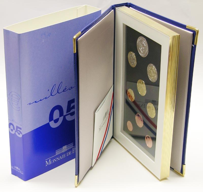 Lieferumfang:Frankreich : 8,88 Euro original Kursmünzensatz der französischen Münze mit 5 Euro Gedenkmünze  2005 PP KMS Frankreich 2005 PP