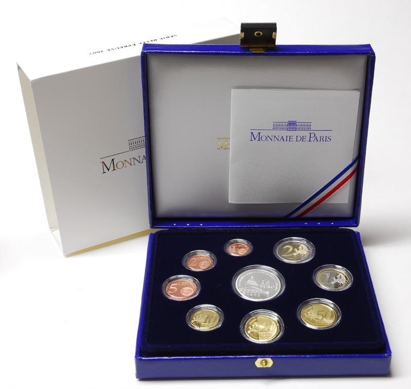 Lieferumfang:Frankreich : 18,88 Euro original Kursmünzensatz der französischen Münze  2007 PP