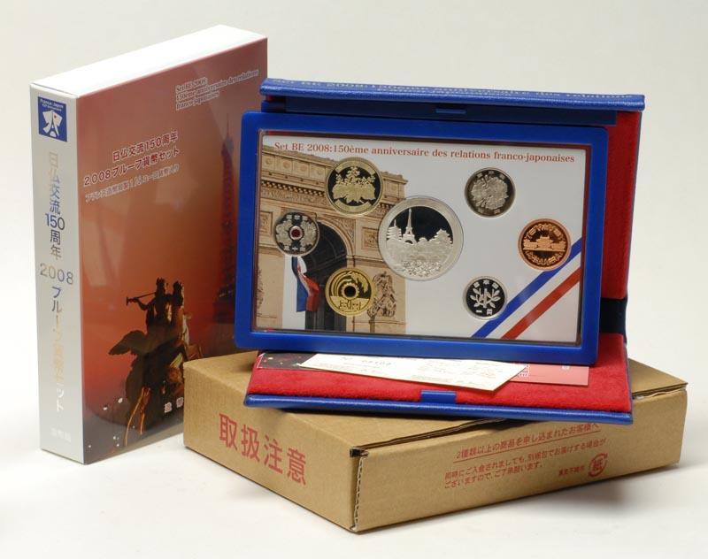 Lieferumfang:Frankreich : 1,5 Euro 666 Yen +1,5 Euro original KMS Frankreich-Japan  2008 PP KMS Frankreich Japan 2008 PP
