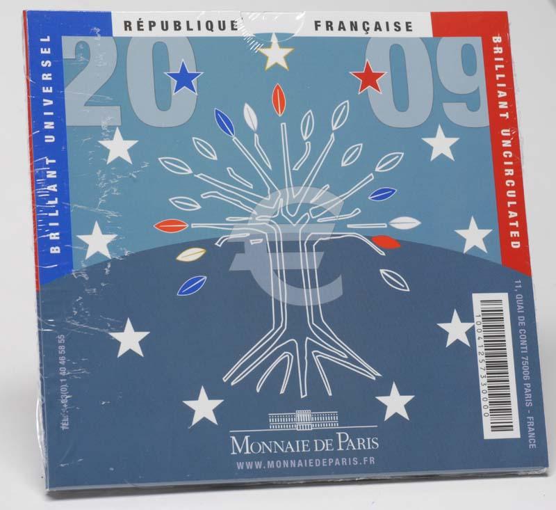 Lieferumfang:Frankreich : 3,88 Euro original Kursmünzensatz der französischen Münze  2009 Stgl. KMS Frankreich 2009 BU