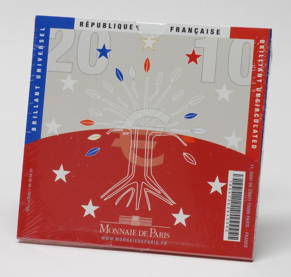 Frankreich : 3,88 Euro original Kursmünzensatz der französischen Münze  2010 Stgl. KMS Frankreich 2010 BU