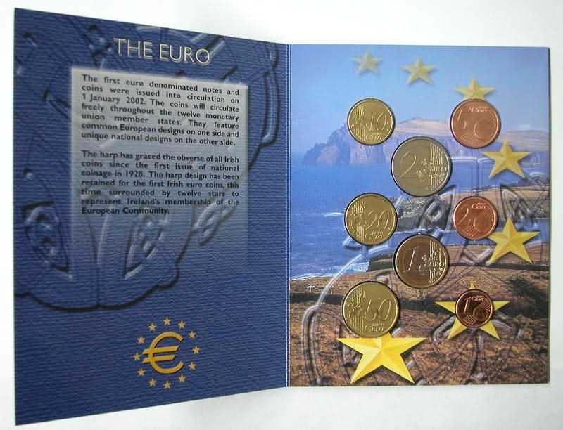 Lieferumfang:Irland : 3,88 Euro original Kursmünzensatz aus Irland  2002 Stgl. KMS Irland 2002