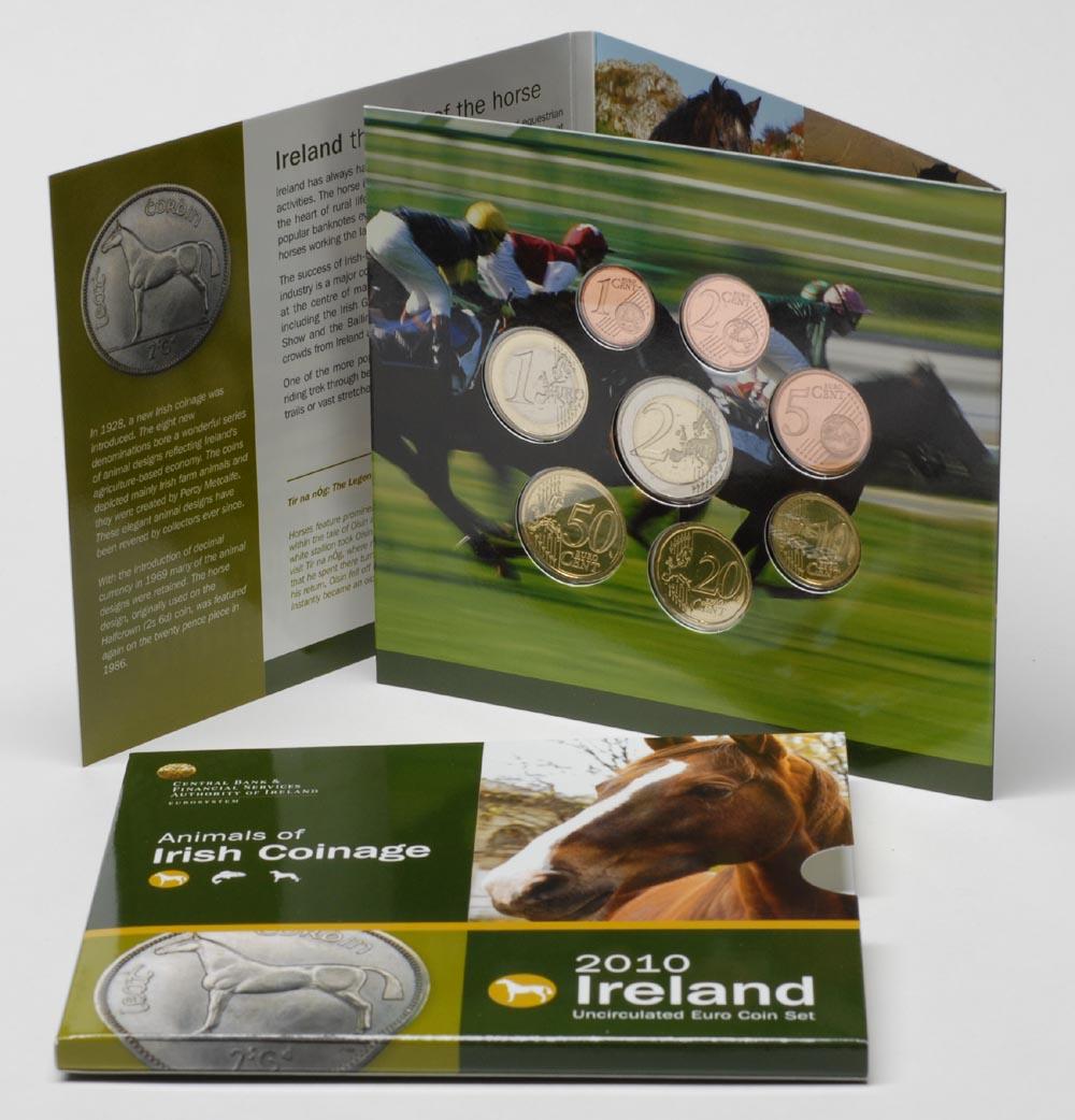 Lieferumfang:Irland : 3,88 Euro original Kursmünzensatz aus Irland  2010 Stgl. KMS Irland 2010