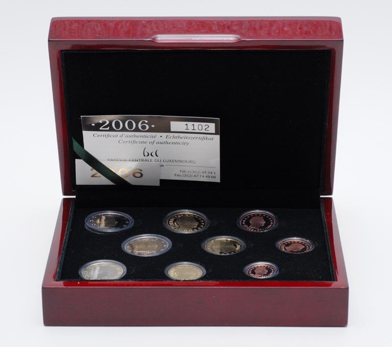 Lieferumfang:Luxemburg : 5,88 Euro KMS Luxemburg mit 2 Euro Gedenkmünze  2006 PP KMS Luxemburg 2006 PP