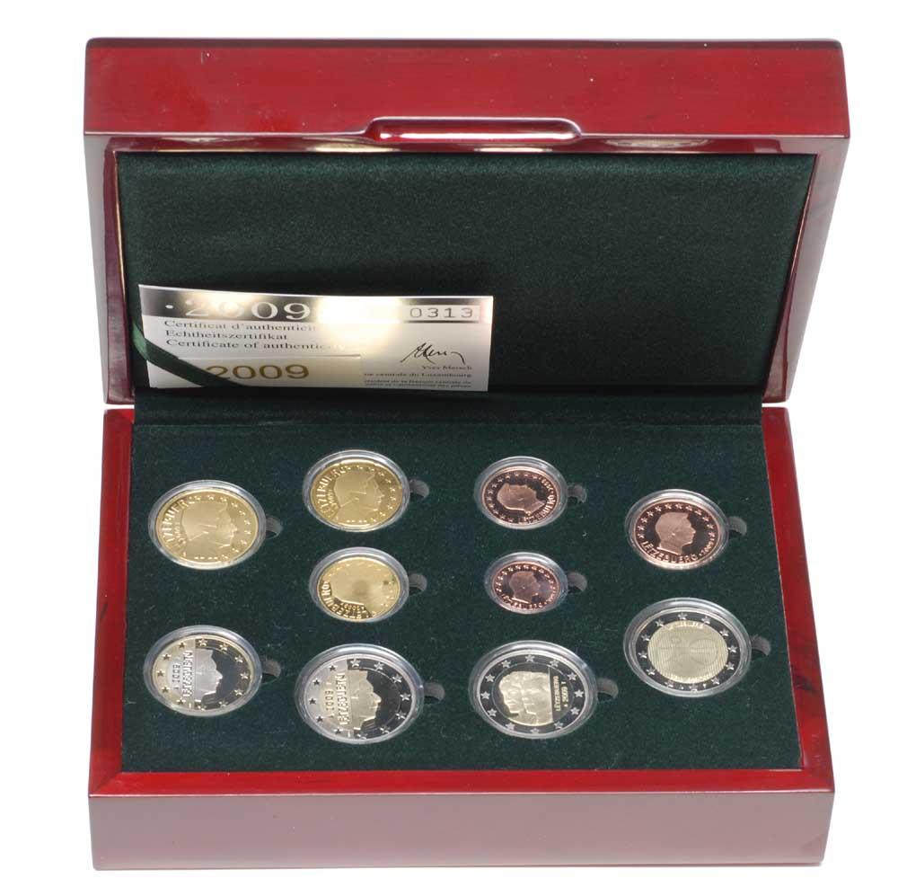 Luxemburg : 7,88 Euro original Kursm�nzensatz aus Luxemburg mit zus�tzlicher 2 Euro Gedenkm�nze (10 Jahre Euro und Charlotte)  2009 PP KMS Luxemburg 2009 PP