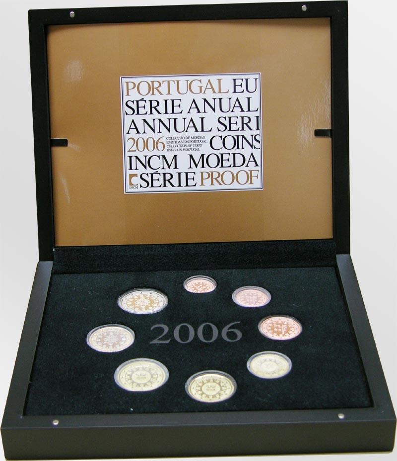 Lieferumfang:Portugal : 3,88 Euro original Kursmünzensatz aus Portugal  2006 PP KMS Portugal 2006 PP