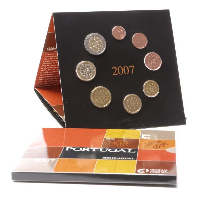 Lieferumfang:Portugal : 3,88 Euro original Kursmünzensatz aus Portugal  2007 Stgl.