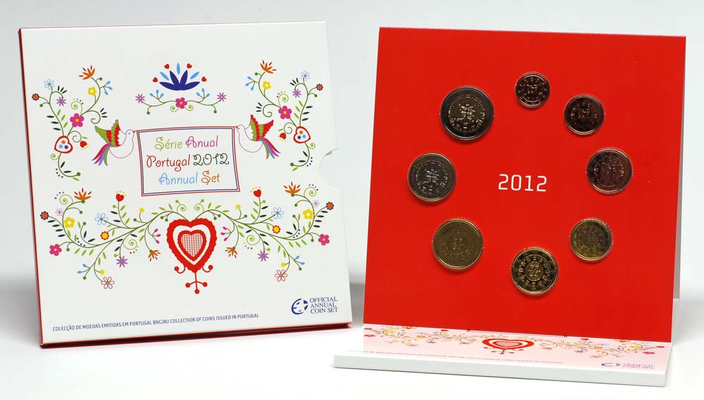 Lieferumfang:Portugal : 3,88 Euro original Kursmünzensatz aus Portugal  2012 Stgl. KMS Portugal 2012 BU