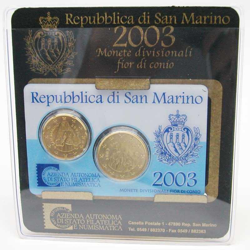 Lieferumfang:San Marino : 0,70 Euro Originalsatz aus San Marino, 20 + 50 Cent Mini Kit  2003 bfr KMS San Marino 2003 Mini Kit