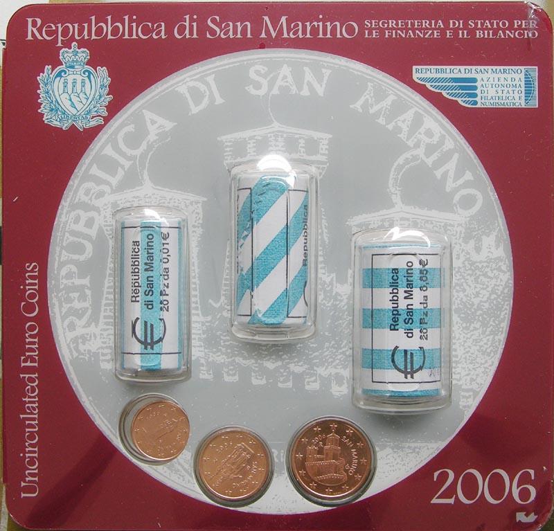 Lieferumfang:San Marino : 1,68 Euro Rollen-Kit aus 1, 2  und 5 Cent je 20 x in der Rolle + je 1 x im Originalblister  2006 Stgl. Mini Kit San Marino 2006