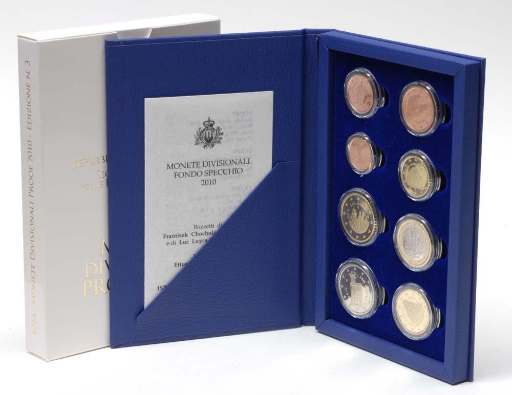 Lieferumfang:San Marino : 3,88 Euro original Kursmünzensatz aus San Marino  2010 PP KMS San Marino 2010 PP
