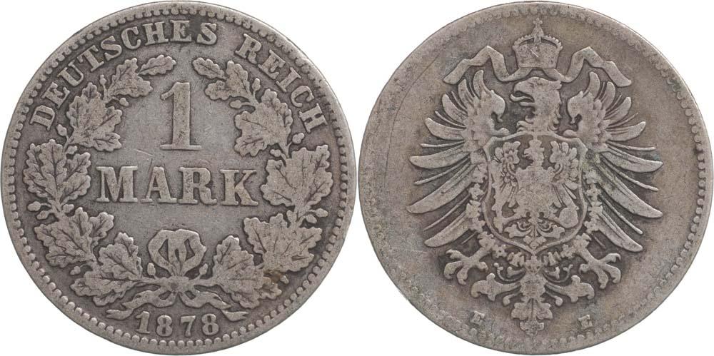 Lieferumfang:Deutschland : 1 Mark   1878 s.