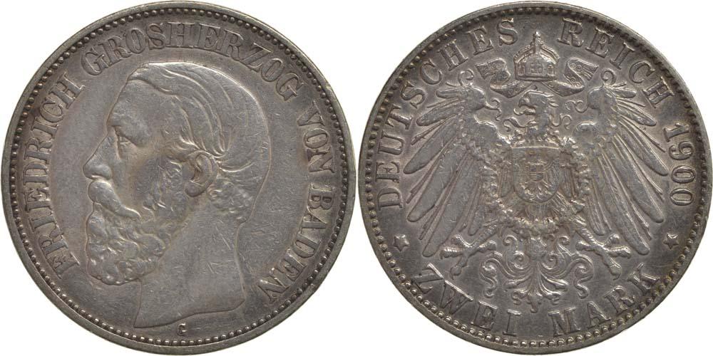 Deutschland : 2 Mark Friedrich I.  1900 ss.