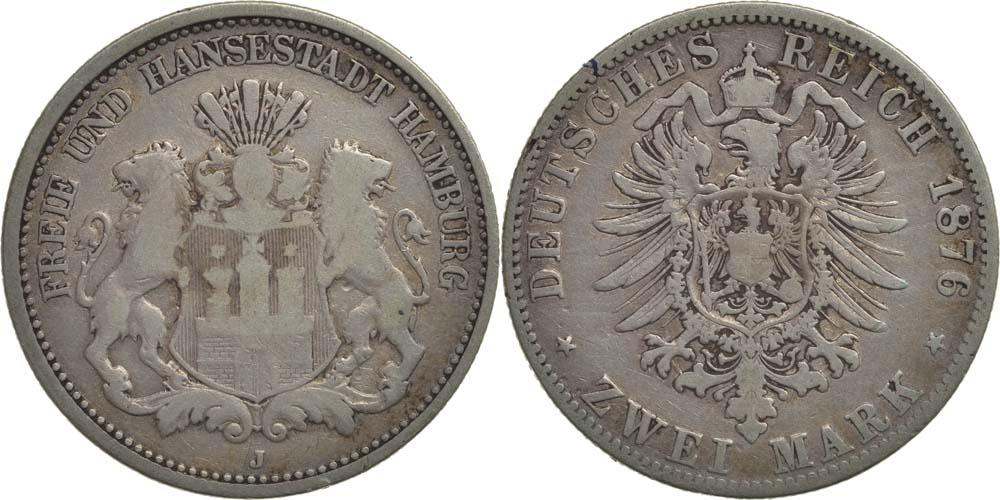 Lieferumfang:Deutschland : 2 Mark   1876 s.