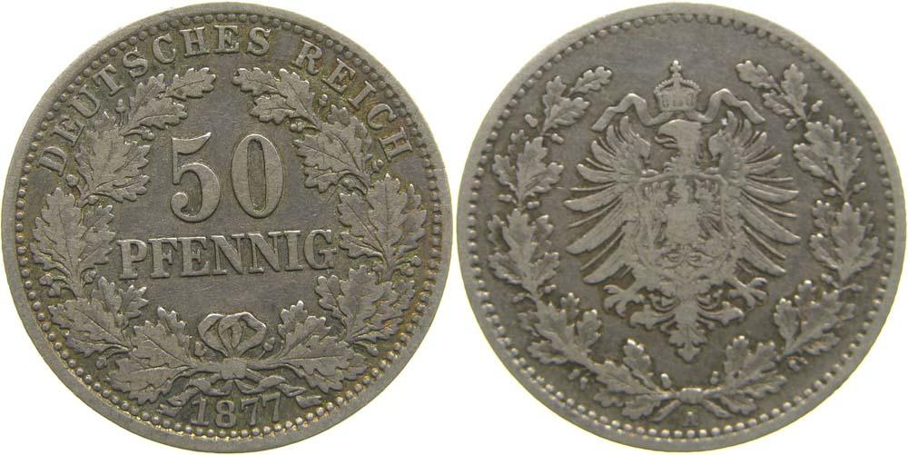 Lieferumfang:Deutschland : 50 Pfennig   1877 ss.
