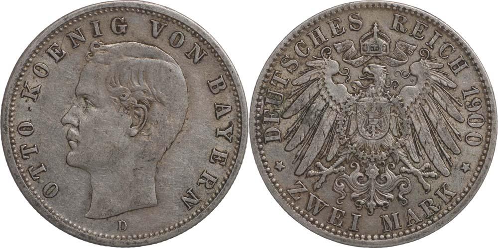 Deutschland : 2 Mark Otto  1900 ss.