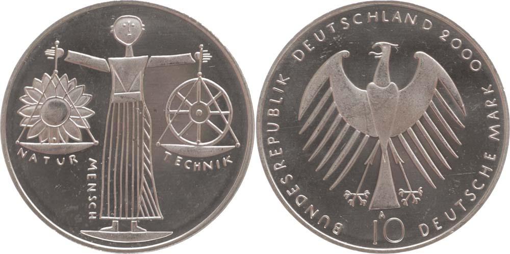 Deutschland : 10 DM Expo 2000 Hannover  2000 vz/Stgl.