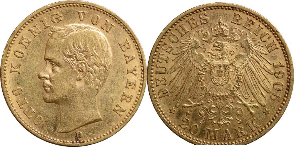 Deutschland : 20 Mark Otto  1905 ss/vz.