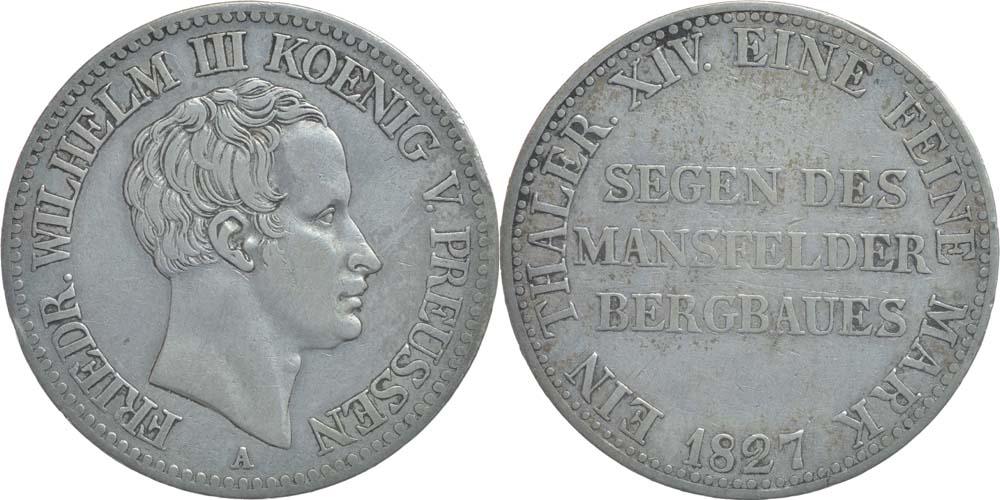 Deutschland : 1 Ausbeutetaler Friedrich Wilhlem III.  1827 ss.