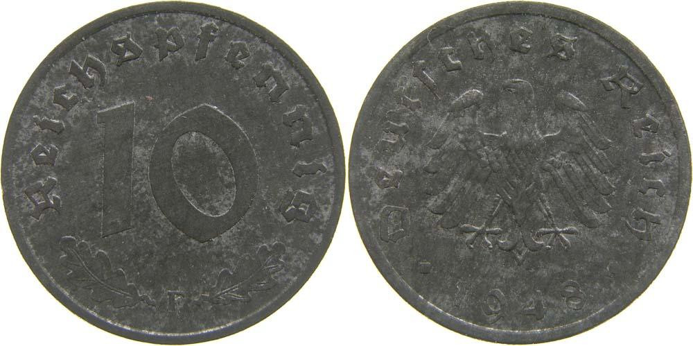 Deutschland : 10 Reichspf.   1948 ss/vz.