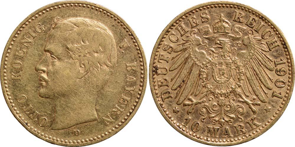 Deutschland : 10 Mark Otto  1901 ss/vz.