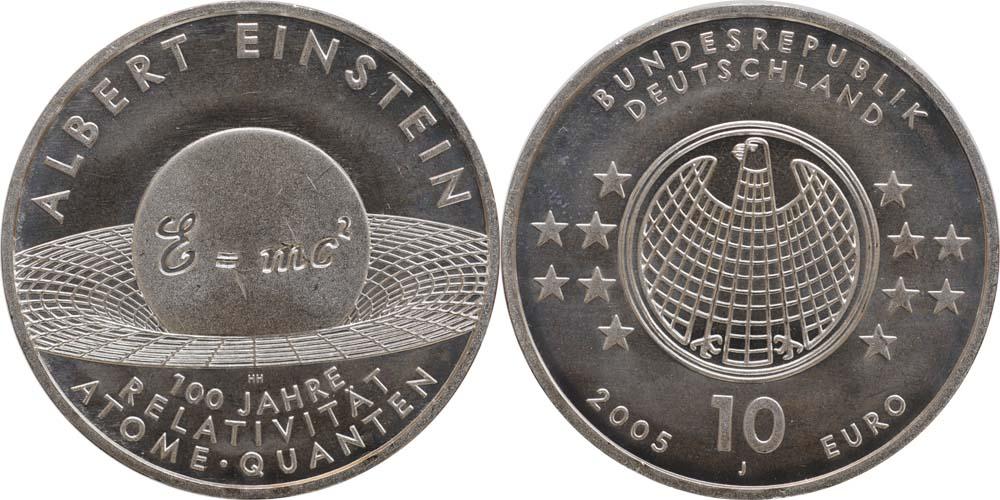 Lieferumfang:Deutschland : 10 Euro Albert Einstein  2005 bfr