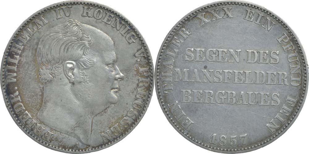 Deutschland : 1 Ausbeutetaler Friedrich Wilhem IV.  1857 ss.