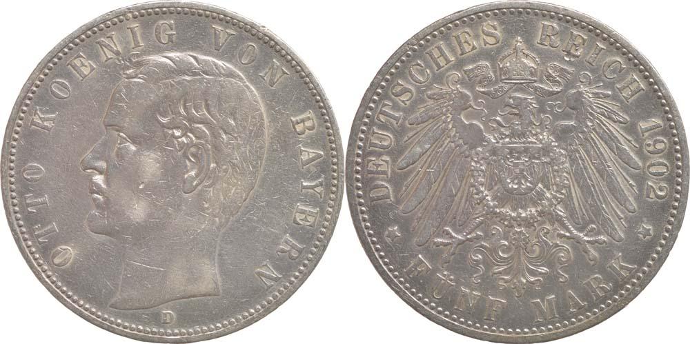 Lieferumfang:Deutschland : 5 Mark Otto  1902 ss.