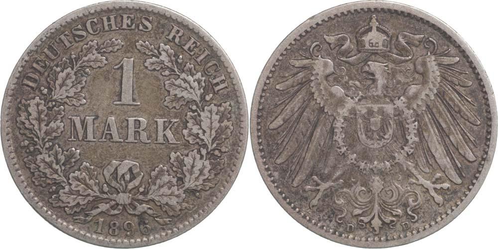 Übersicht:Deutschland : 1 Mark   1896 f.ss