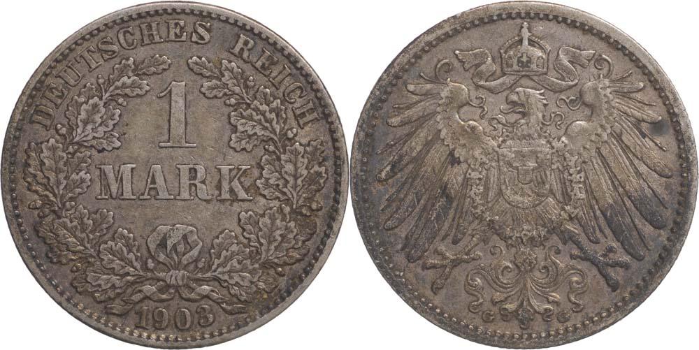 Übersicht:Deutschland : 1 Mark   1903 f.ss