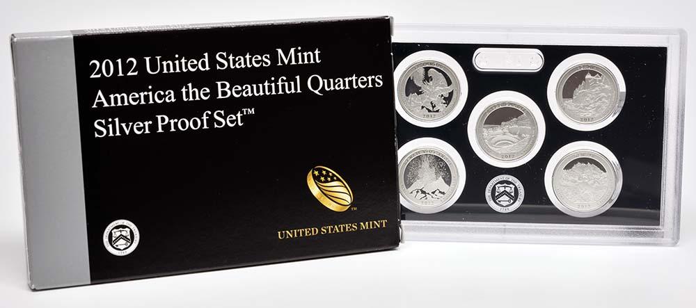 USA : 5x25 Cent 1/4 Dollar Satz #13  2012 PP