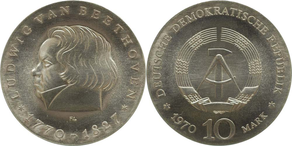 Lieferumfang:DDR : 10 Mark Ludwig von Beethoven  1970 Stgl.