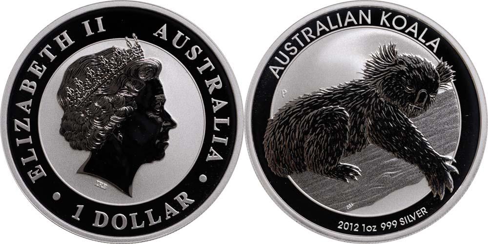 australien 1 dollar koala 2012 silber stgl euro. Black Bedroom Furniture Sets. Home Design Ideas