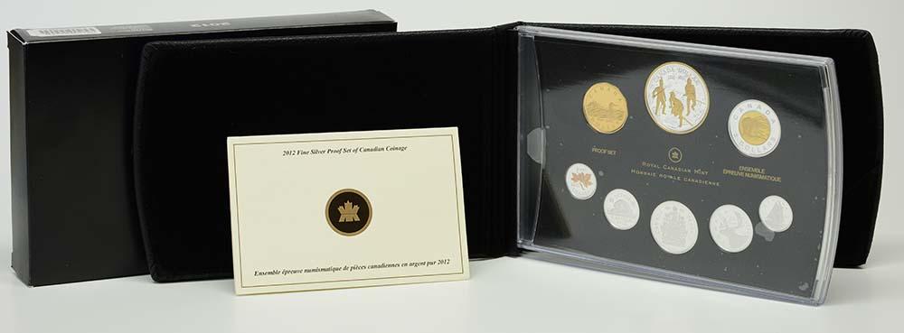 Kanada : 4,91 Dollar 200 J. Krieg v. 1812- Silberset (1$ vergoldet)  2012 PP